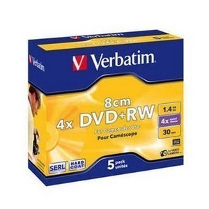 mini DVD+RW  VERBATIM 1.4Gb -4x Slim