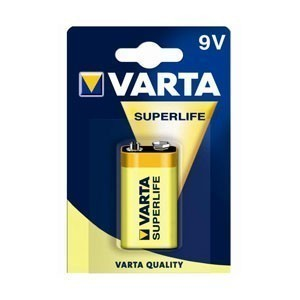 Эл. питания VARTA 6F22 Superlife 2022 (1604 Blister)