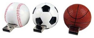 USB 2.0 Flash Drive  1Gb Pretec Sport FootBall  кулон ( F2U01G-A)