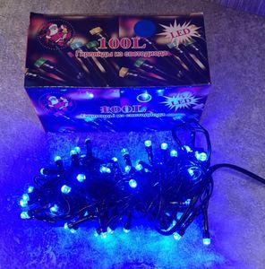 Гирлянда новогодняя 100 LED (синяя) 61798