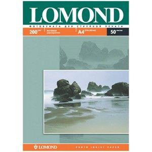 Фотобумага  А-4 LOMOND (200g.) Двухсторонняя Matte 50 листов