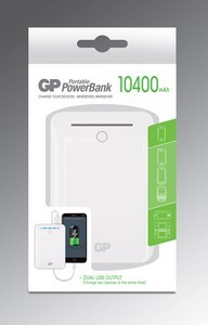 ЗУ  Power Bank GP GL301WE (5V, 10 400мАч - 2 USB-порта)