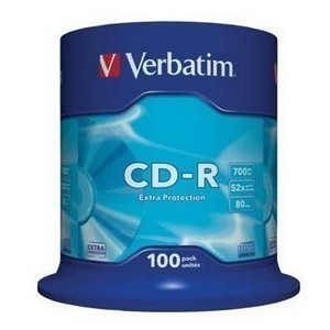 CD-R  S-100 Box VERBATIM 700Mb  (Extra Protection)
