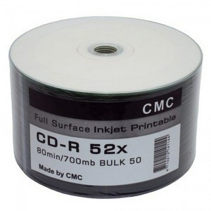 CD-R Printable S- 50 Bulk CMC 700Mb  (Printable)