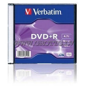 DVD+R  VERBATIM 4.7Gb -16x Slim