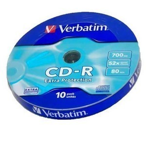 CD-R  S- 10 Bulk VERBATIM 700Mb  (Extra Protection)