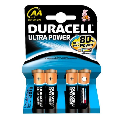 Эл. питания DURACELL LR6 Ultra Power (Blister  4 шт.)