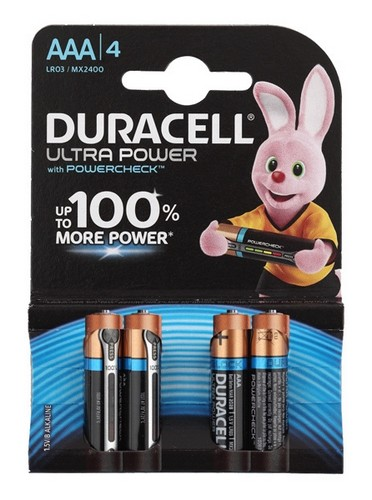 Эл. питания DURACELL LR03 Ultra Power (Blister  4 шт.)