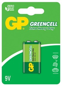 Эл. питания GP 6F22 GreenCell (Blister) (1604G C1)