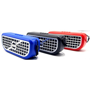 Аккустика компьютерная Perfeo PF-128  красная (2x3W, питание по USB)