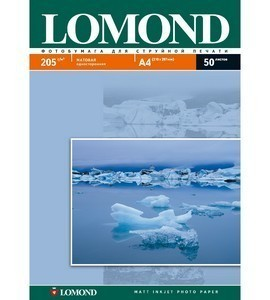 Фотобумага  А-4 LOMOND (205g.) Matte 50 листов