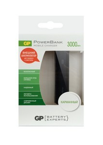 Power Bank GP FN03MSE-CRB1 (3000мАч, 1 USB-порт)