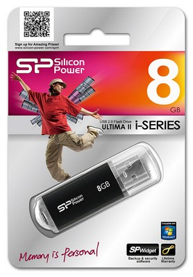USB 2.0 Flash Drive  8Gb SiliconPower UII