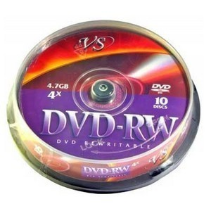 DVD-RW  S- 10 Box VS 4.7Gb -4х