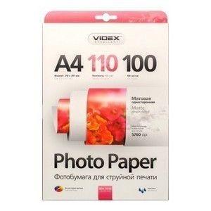 Фотобумага  А-4 VIDEX (110g.) Matte 100 листов (MKA4-110/100)