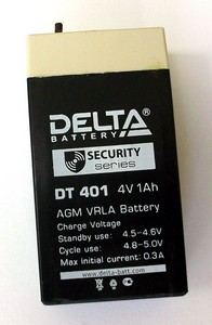 Купить Аккумулятор свинцовый DELTA DT- 401 (4V 1.0Ah) в интернет магазине ЧАС с доставкой по Севастополю и Крыму. Приобрести Аккумулятор свинцовый DELTA DT- 401 (4V 1.0Ah) по выгодной цене можно в одном из наших магазинов или сделав заказ на сайте.  Возможна доставка заказов любой ТК по всей территории России.