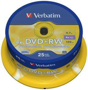 Купить DVD+RW  S- 25 Box VERBATIM 4.7GB -4x в интернет магазине ЧАС с доставкой по Севастополю и Крыму. Приобрести DVD+RW  S- 25 Box VERBATIM 4.7GB -4x по выгодной цене можно в одном из наших магазинов или сделав заказ на сайте.  Возможна доставка заказов любой ТК по всей территории России.