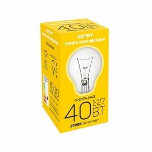 Купить Лампа СТАРТ E27 40Вт Б  в интернет магазине ЧАС с доставкой по Севастополю и Крыму. Приобрести Лампа СТАРТ E27 40Вт Б  по выгодной цене можно в одном из наших магазинов или сделав заказ на сайте.  Возможна доставка заказов любой ТК по всей территории России.