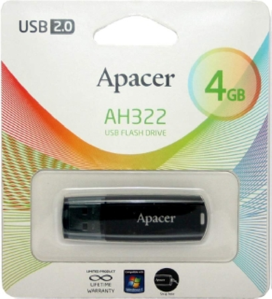 USB 2.0 Flash Drive  4Gb Apacer AH322