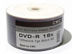 Купить DVD-R Printable S- 50 Bulk CMC Magnetics 4.7Gb -16x (FULL Printable)  в интернет магазине ЧАС с доставкой по Севастополю и Крыму. Приобрести DVD-R Printable S- 50 Bulk CMC Magnetics 4.7Gb -16x (FULL Printable)  по выгодной цене можно в одном из наших магазинов или сделав заказ на сайте.  Возможна доставка заказов любой ТК по всей территории России.