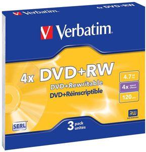 Купить DVD-RW  VERBATIM 4.7GB -4x  Slim (3 шт.) в интернет магазине ЧАС с доставкой по Севастополю и Крыму. Приобрести DVD-RW  VERBATIM 4.7GB -4x  Slim (3 шт.) по выгодной цене можно в одном из наших магазинов или сделав заказ на сайте.  Возможна доставка заказов любой ТК по всей территории России.